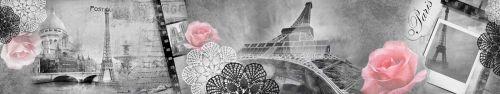 Скинали - Винтажный фон, Париж с розами