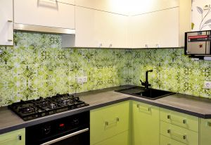 Узор для скинали в интерьере кухни - 32559