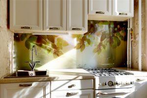 Деревья для скинали в интерьере кухни - 32665