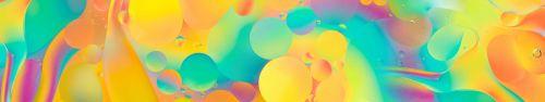 Скинали - Переливающиеся разными цветами капли масла