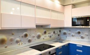 Абстракции для скинали в интерьере кухни - 32800