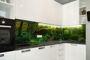 Природа для скинали в интерьере кухни - 32801