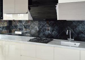 Абстракции для скинали в интерьере кухни - 32848