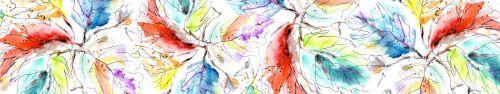 Скинали - Листья акварелью