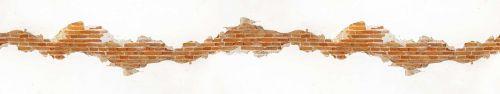 Скинали - Кирпичная вставка в оштукатуренной светлой стене