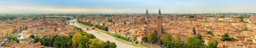 Скинали - Солнечный день в Вероне, панорама