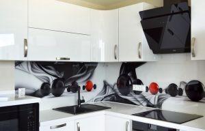Волны для скинали в интерьере кухни - 32943