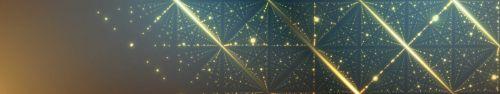 Скинали - Светящиеся линии и точки, геометрический фон