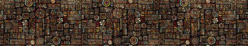 Скинали - Веселый этнический орнамент на черном фон