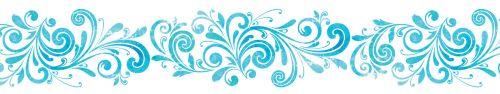 Скинали - Растительный элемент на белом фоне