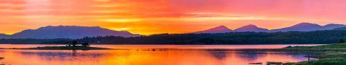 Скинали - Потрясающий закат на озере