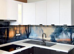 Природа для скинали в интерьере кухни - 33193