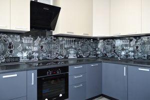 Меловая доска для скинали в интерьере кухни - 33272