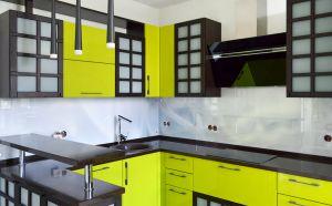 Ткань для скинали в интерьере кухни - 33276