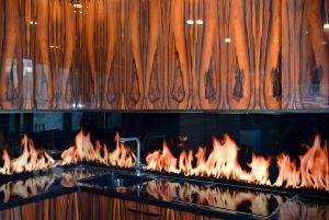 Огонь для скинали в интерьере кухни - 33277