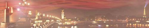 Скинали - Панорама ночного Парижа, коллаж