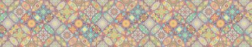 Скинали - Паттерн с разноцветными абстрактными рисунками