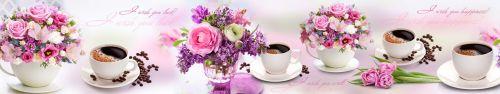 Скинали - Нежные цветы и ароматный кофе на столе