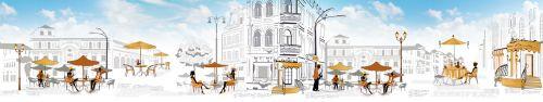 Скинали - Улочки для отдыха, векторный город