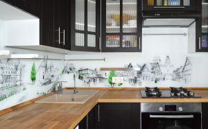Природа для скинали в интерьере кухни - 33446
