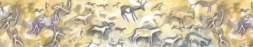 Скинали - Сцены охоты, рисунок акварелью