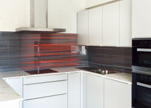 Линии, полосы для скинали в интерьере кухни - 33578