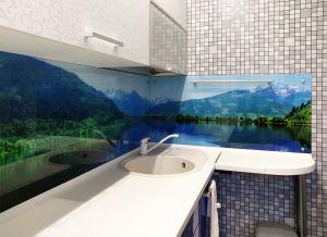 Озеро для скинали в интерьере кухни - 33582