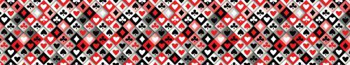 Скинали - Масти карт, векторный паттерн