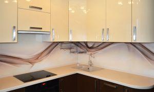 Волны для скинали в интерьере кухни - 33738