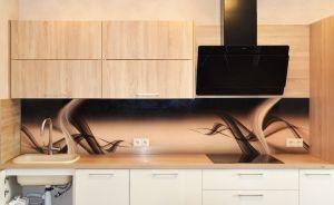Волны для скинали в интерьере кухни - 33855