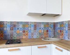 Плитка для скинали в интерьере кухни - 33975