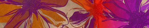 Скинали - Векторные цветы в яркой окраске