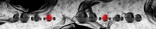 Скинали - Черные и красные шары на абстрактном фоне