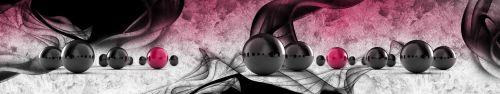 Скинали - Черные шары с розовым акцентом