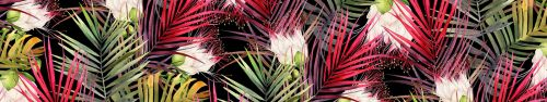 Скинали - Тропические растения, рисунок акварелью