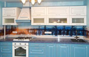 Природа для скинали в интерьере кухни - 34217