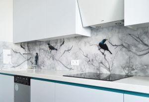 Природа для скинали в интерьере кухни - 34288