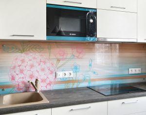 Графические для скинали в интерьере кухни - 34291