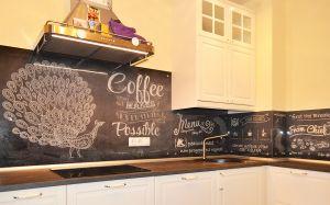 Кофе для скинали в интерьере кухни - 34293