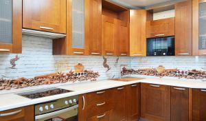 Кофе для скинали в интерьере кухни - 34296