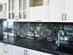 Еда и напитки для скинали в интерьере кухни - 34300