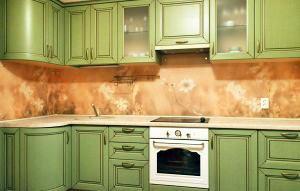 Скинали для зеленой кухни - 34301