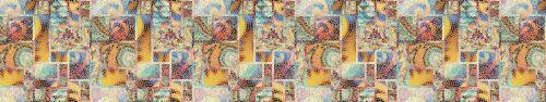 Скинали - Фон-имитация витражной мозаики