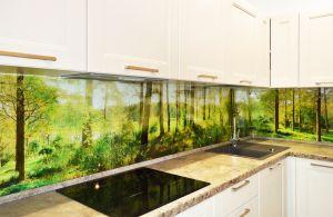 Природа для скинали в интерьере кухни - 34803
