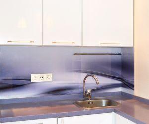 Волны для скинали в интерьере кухни - 34836