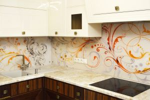 Узор для скинали в интерьере кухни - 34838