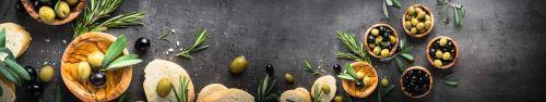 Скинали - Багет с оливками и ароматным розмарином
