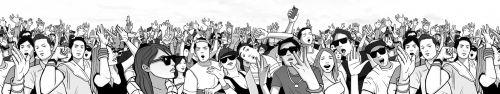 Скинали - Люди на вечеринке под открытым небом