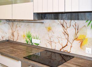 Природа для скинали в интерьере кухни - 35252