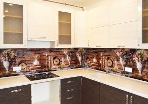 Полевые для скинали в интерьере кухни - 35254